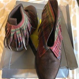 Volatile Shoes - Volatile multi-colored ankle boots